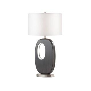 Nova Offset Standing Table Lamp, Charcoal Gray