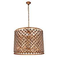Royce Edge 12-Light Golden Iron Chandelier - golden iron (royal cut clear crystals)