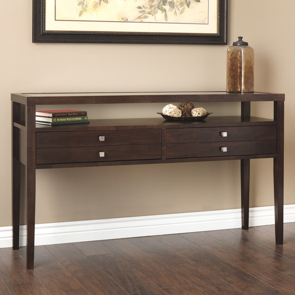 Aristo Halifax Brown Console Table 80010076 Overstock