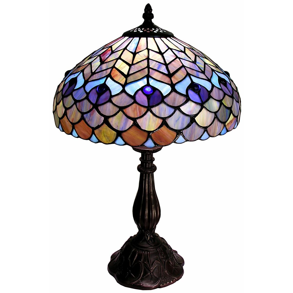 Warehouse Of Tiffany Tiffany Style Peacock Table Lamp