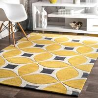 Palm Canyon Lorena Handmade Yellow Area Rug (5' x 8') - 5' x 8'