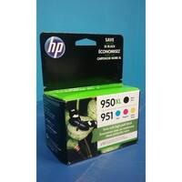 HP 950XL High Yield Black/951 Standard Tri-Color Ink Cartridges, C2P01FN140
