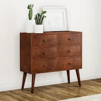 Carson Carrington Linkoping Mid-century 6-drawer Wood Accent Chest