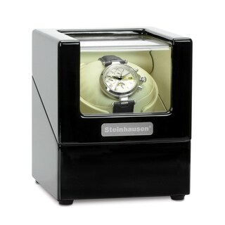 Steinhausen Heritage Single Watch Winder With Ultra Quiet Motor and Multiple Modes/ Onyx