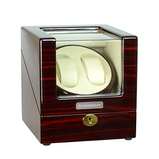 Steinhausen Heritage Double Watch Winder With Ultra Quiet Motor and Multiple Modes/ Cherrywood