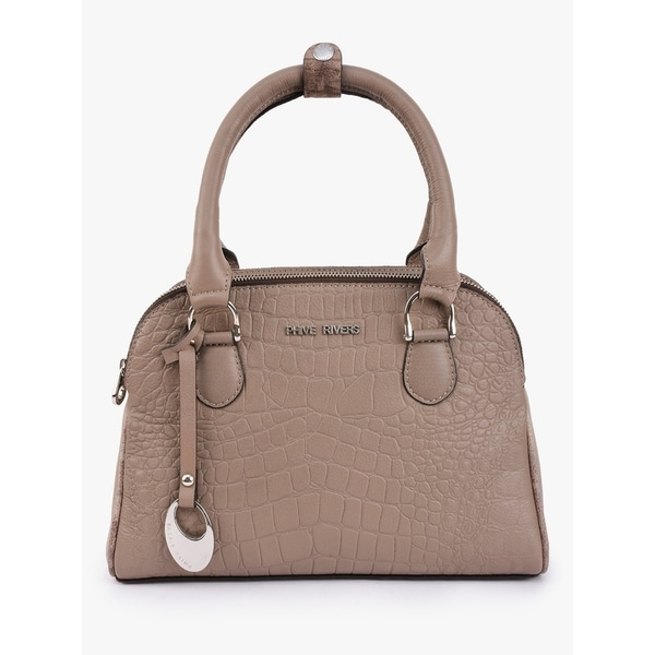 668d51409e Handmade Phive Rivers Women s Grey Leather Handbag (Italy)