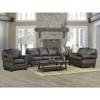Madison Italian Leather Sofa, Loveseat, and Chair Set