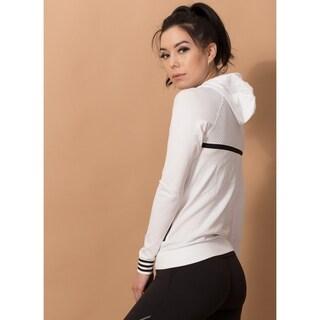 Women's Stripes Yoga Running Fitness Outdoor Hoodie Slim Jacket