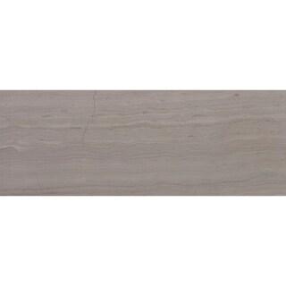 Limestone 3x8-inch Honed Vein Cut in Chenille White - 3x8