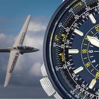 Citizen Men's Eco-Drive Blue Angels Bracelet Watch