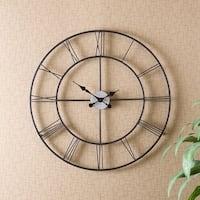 Clay Alder Home Sorlie Metal Black Wall Clock
