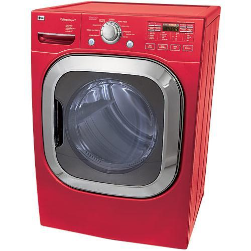 Lg 7 4 Cubic Foot Red Front Load Dryer Overstock