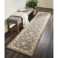"""Nourison India House Blue Traditional Runner Rug - 2'3"""" x 10'"""
