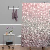 Lisa Argyropoulos Girly Pink Snowfall Shower Curtain