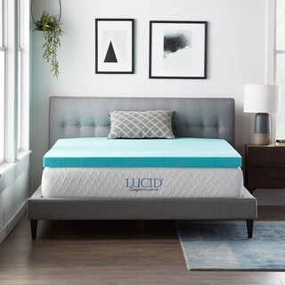 LUCID Comfort Collection 3-inch Gel Memory Foam Mattress Topper