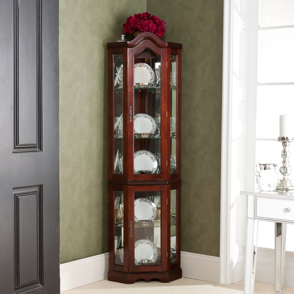 Vaisselier Etroit: McCoy Mahogany Lighted Display Cabinet