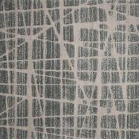 Abstract Mid-century Modern Multi Grey Square Shag Rug - 7'7 x 7'7