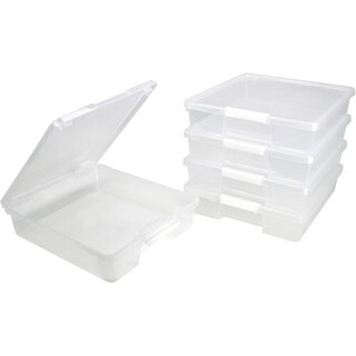 12x12 Classroom Student Project Box/ Clear (5 units/pack)