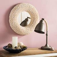 Safavieh Magnolia Coastal 20-inch Round Beige Seashell Mirror - Natural - 20' x 3.5' x 20'