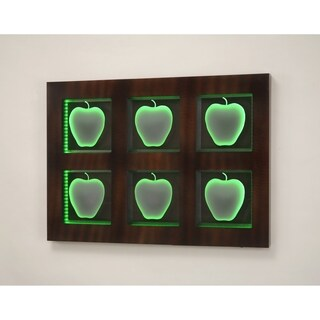 Emulation Battery Powered Contemporary Abstract Metal Wall Art Décor
