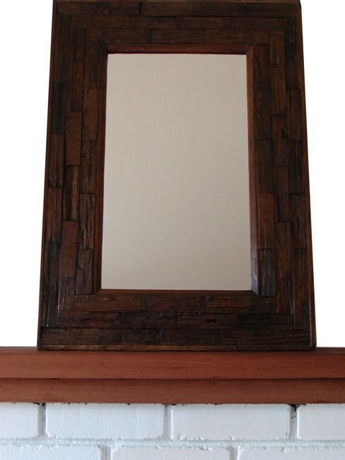 Teak Wood Large Wall Mirror Thailand 10437979