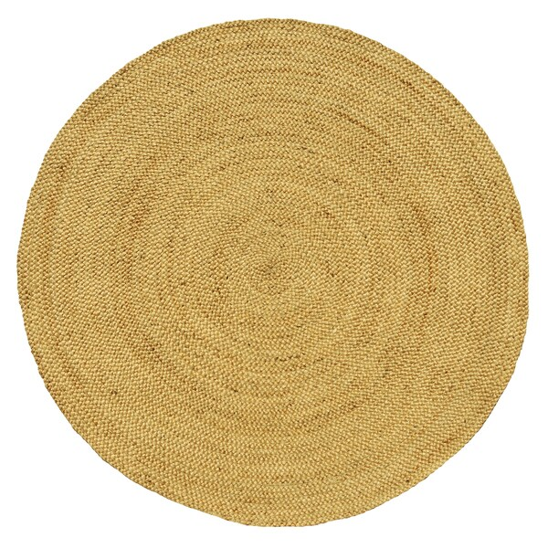 Hand Woven Braided Natural Jute Rug 6 Round Area Rug