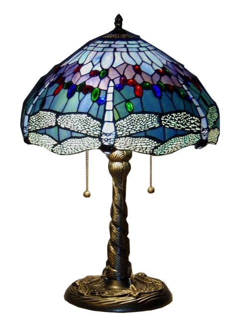 Tiffany Style Blue Dragonfly Table Lamp 10443274
