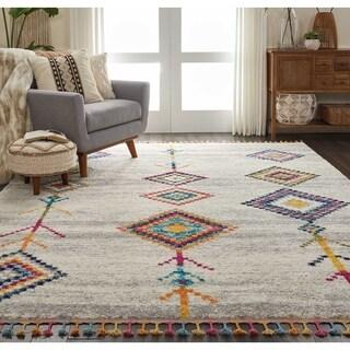 Nourison Moroccan Casbah Multi-color Tassel Rug (7'10 x 10'6)