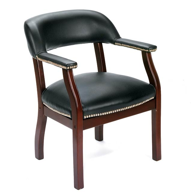 Boss Traditional Black Reception Chair 10466646