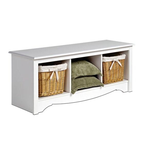Storage Bench Under Bay Window: New Winslow Furniture White Storage Bay Window Seat Bench