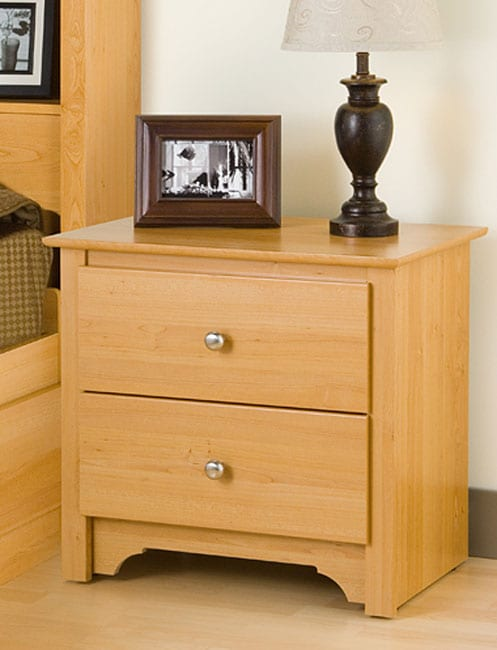 Montego Maple 2 Drawer Nightstand 10468936 Overstock Com Shopping Great Deals On