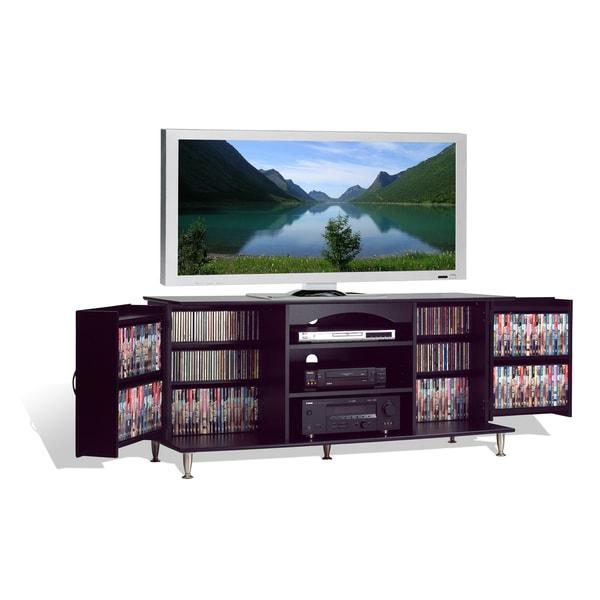 broadway black large flat panel plasma lcd tv console with media storage 10480160. Black Bedroom Furniture Sets. Home Design Ideas