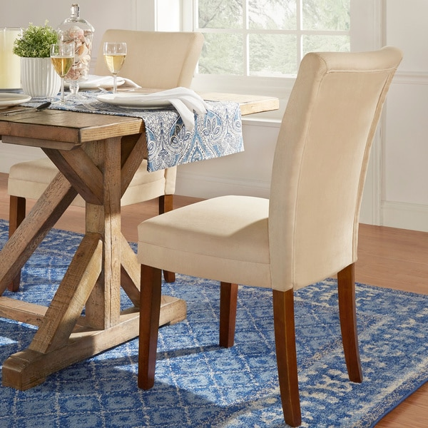 TRIBECCA HOME Parson Classic Upholstered Dining Chair (Set