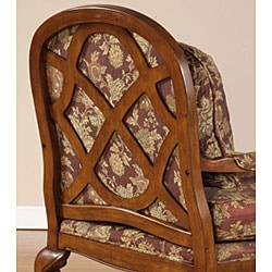 Salon Burgundy Brocade Chair 10500657 Overstock Com