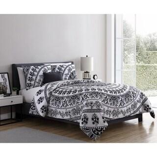 VCNY Home Kaci Black & White Medallion Comforter Set