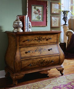 Hand Painted Chestnut Bombay Chest 10522770 Overstock
