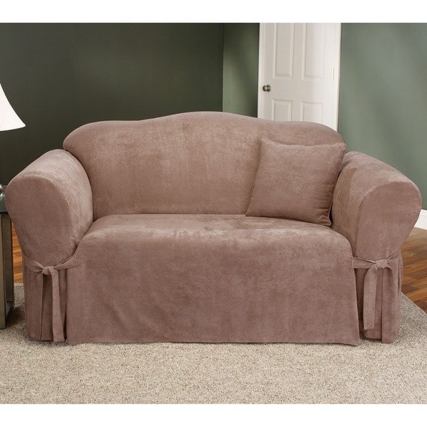 Sure Fit Smooth Suede Washable Sofa Slipcover 10530640