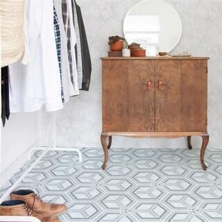 SomerTile 5.875x6.75-inch Botnen Hex Decor Geo Porcelain Floor and Wall Tile (30 tiles/6.77 sqft.)