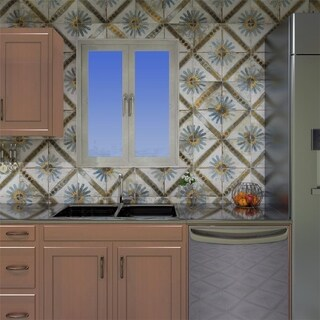 SomerTile 17.625x17.625-inch Royals Marrakech Blue Ceramic Floor and Wall Tile (5 tiles/11.1 sqft.)