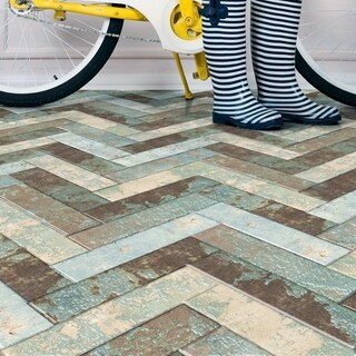 SomerTile 3x11.75-inch Comfort Cold Porcelain Floor and Wall Tile (38 tiles/10.29 sqft.)