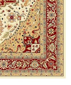 Safavieh Lyndhurst Collection Oriental Pattern Ivory Red