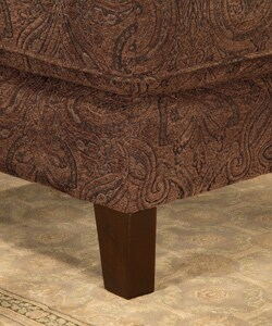 Slipper Chair Sable Paisley 10571712 Overstock Com