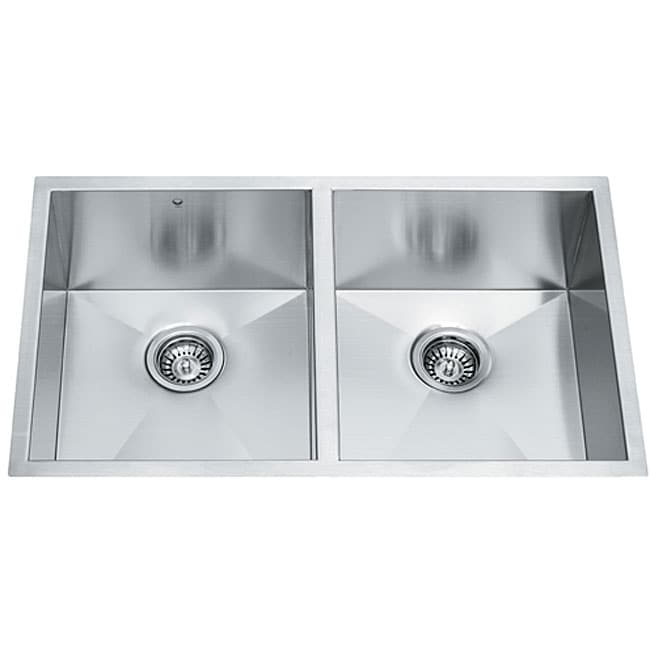 32-inch Undermount Stainless Steel 16 Gauge Double Bowl