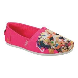 Women's Skechers BOBS Plush Paw-Fection Winky Alpargata Fuchsia