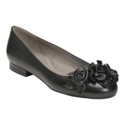 Women's Aerosoles Do Good Flat Black Leather
