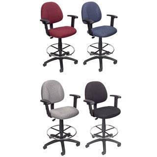 National Public Seating Black Adjustable Height Round Seat