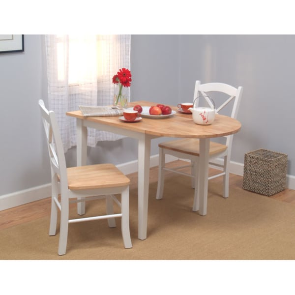 Country Dining Sets: Simple Living Country Cottage Drop Leaf 3-piece Dining Set