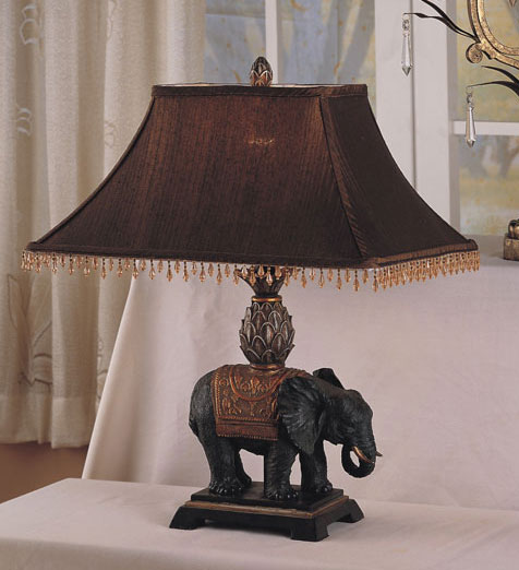 Antique Elephant Style Table Lamp Set Of 2 10707499