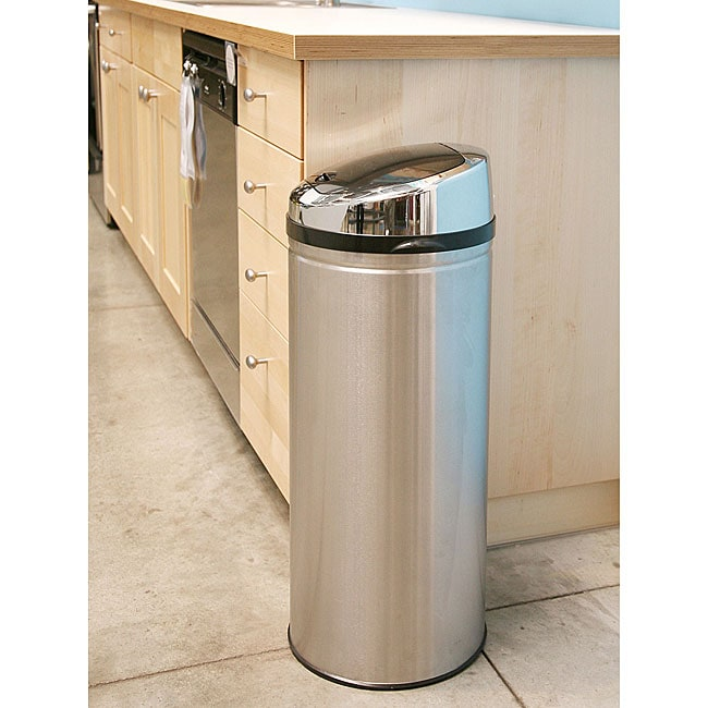 Itouchless 13 Gallon Steel Touchless Trash Can 10715980