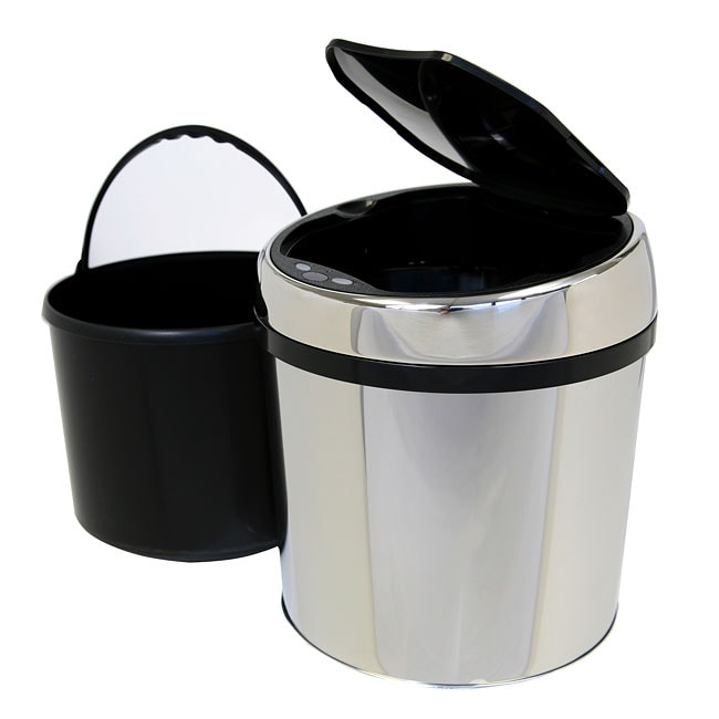 Itouchless 1 5 Gallon Round Stainless Steel Automatic